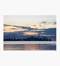 Anticipation - Waiting for the Sunrise at Toronto Waterfront Photographic Print