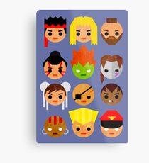 Street Fighter 2 Mini Metal Print
