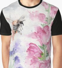 """""""Bumble"""" beautiful watercolour bumble bee and flowers Graphic T-Shirt"""