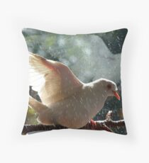 Have You Ever Seen The Rain - White Dove - NZ Throw Pillow