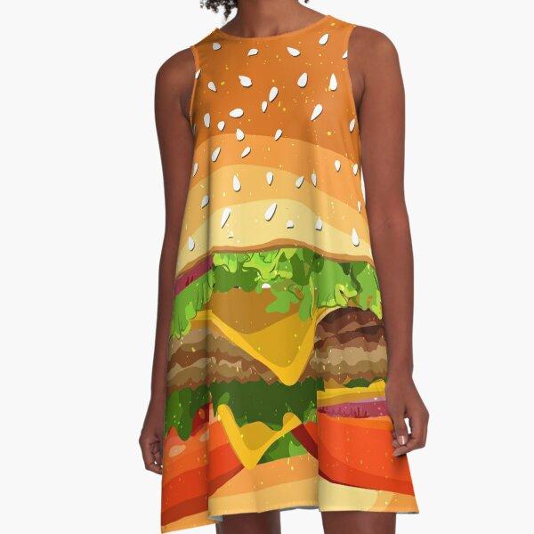 Cheeseburger pattern. A-Line Dress