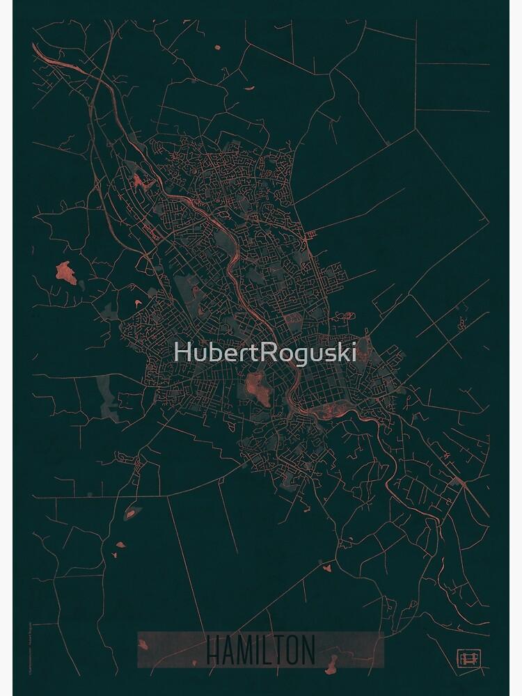 Hamilton Map Red by HubertRoguski
