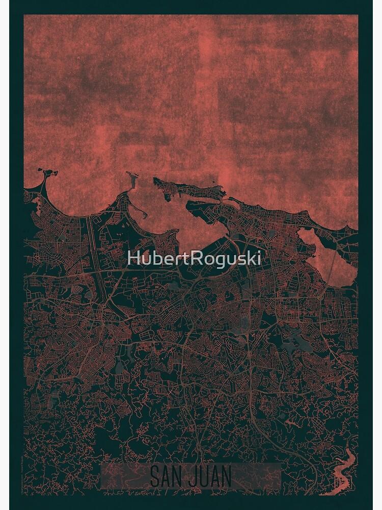 San Juan Map Red by HubertRoguski