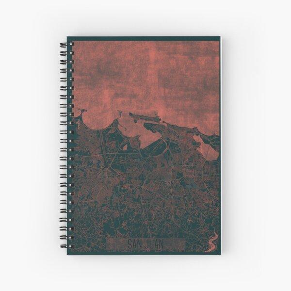 San Juan Map Red Spiral Notebook