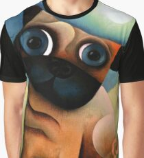 Pug Dog in the Yard Graphic T-Shirt