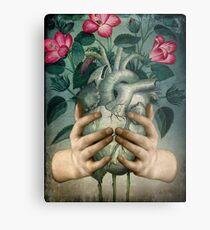 A Green Heart Metal Print