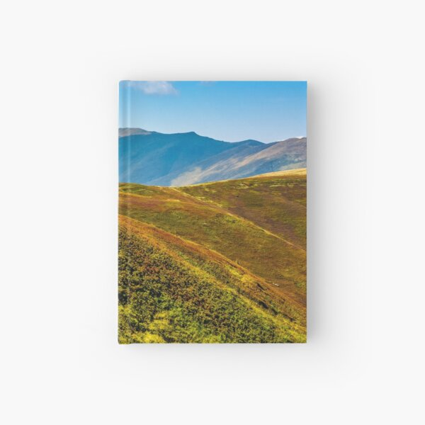 path through the mountain ridge in summer Hardcover Journal