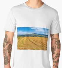agricultural field in mountains Men's Premium T-Shirt