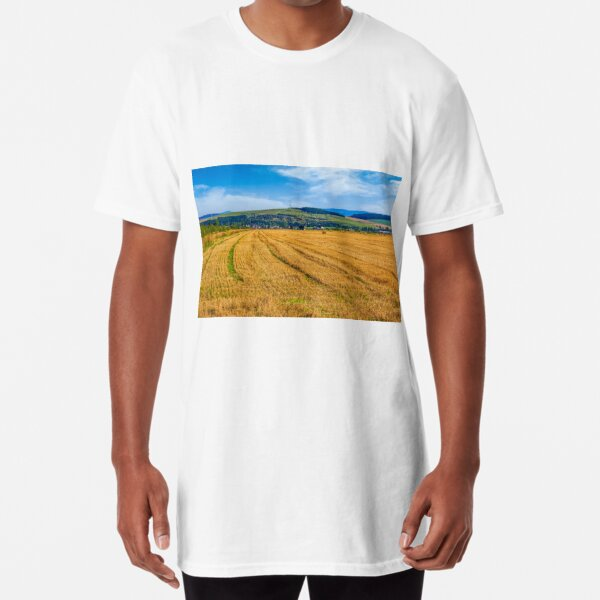 agricultural field in mountains Long T-Shirt