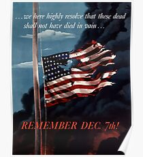Remember December 7th Poster