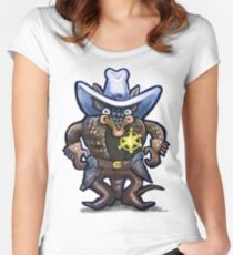 Sheriff Dillo Women's Fitted Scoop T-Shirt