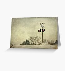 Crossing Over Greeting Card
