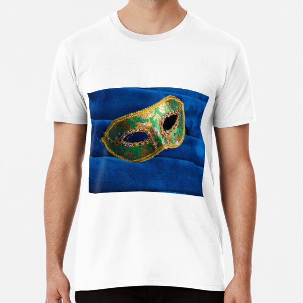 Party Mask on Fabric Premium T-Shirt