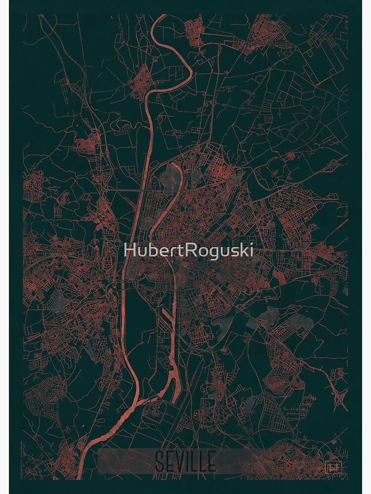 Seville Map Red by HubertRoguski