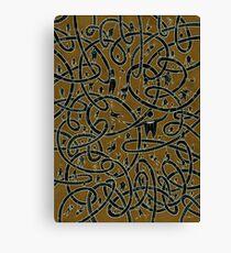 Negative POP Art Curly Tubes Canvas Print