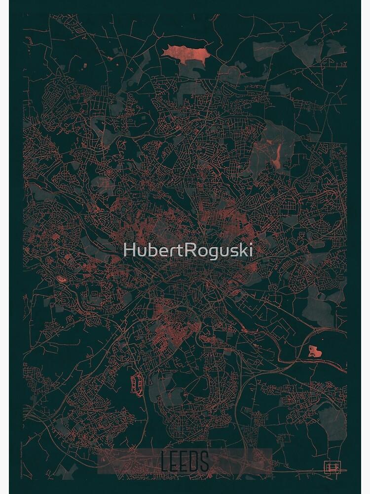 Leeds Map Red by HubertRoguski