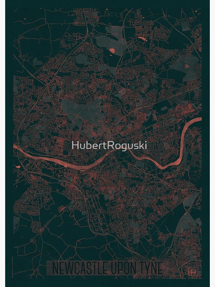 Newcastle upon Tyne Map Red by HubertRoguski