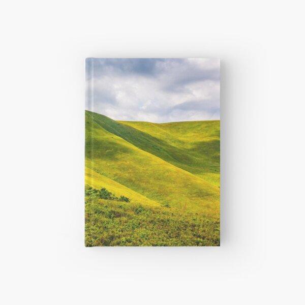 grassy hillside on mountain in summer Hardcover Journal