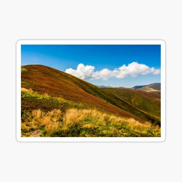 mountain hillsides in late summer Sticker