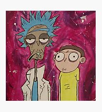Rick and Morty Painting - Acrylics  Photographic Print