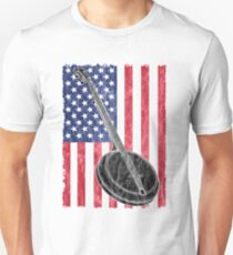Banjo USA Flag Design  Unisex T-Shirt