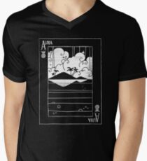 Ace of Aloha (Mono White) Men's V-Neck T-Shirt