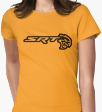 DODGE SRT HELLCAT LOGO Womens Fitted T-Shirt