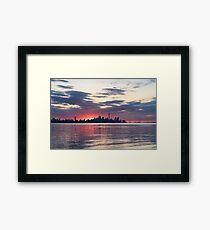 Just Before - the Sun is About to Rise Over Toronto Skyline Framed Print