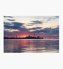 Just Before - the Sun is About to Rise Over Toronto Skyline Photographic Print
