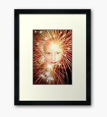 facial explosion Framed Print