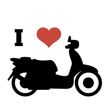 i love scooters funny gift idea by sampavlou