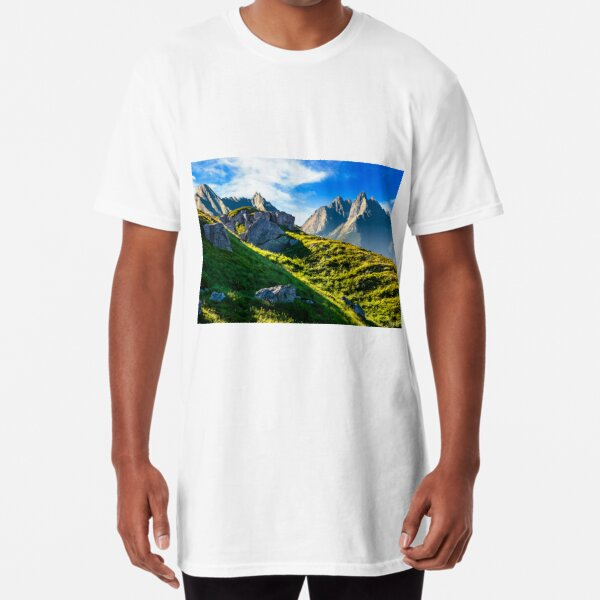 rocky hills in mountains Long T-Shirt