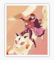 Miroku, Sango, Kirara and Shippo Sticker