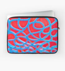 Red and Turquoise Maze Laptop Sleeve