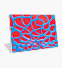 Red and Turquoise Maze Laptop Skin
