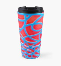 Red and Turquoise Maze Travel Mug