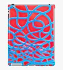 Red and Turquoise Maze iPad Case/Skin