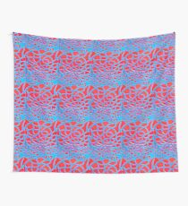 Red and Turquoise Maze Wall Tapestry