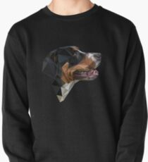 Low polygonal portrait of the Greater Swiss Mountain Dog Pullover