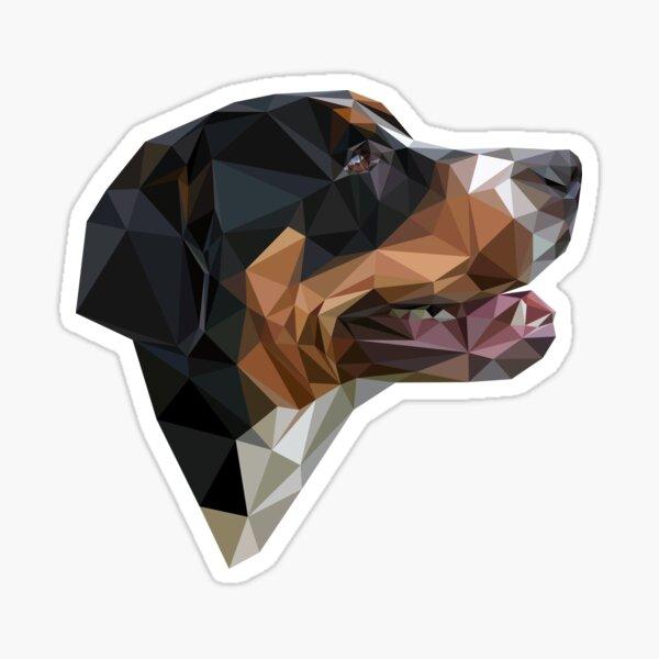 Low polygonal portrait of the Greater Swiss Mountain Dog Sticker