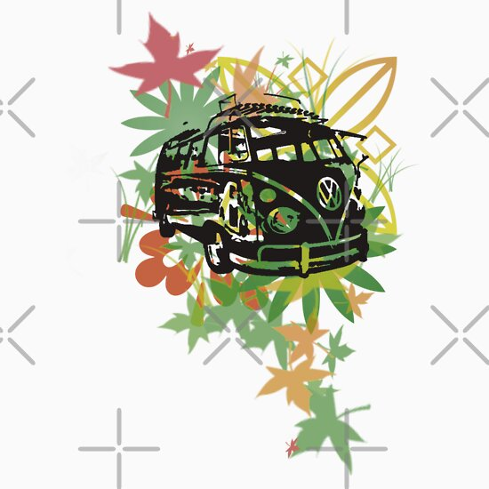 TShirtGifter presents: Green leaf camper