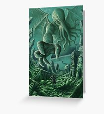 Cthulhu Unleashed Greeting Card