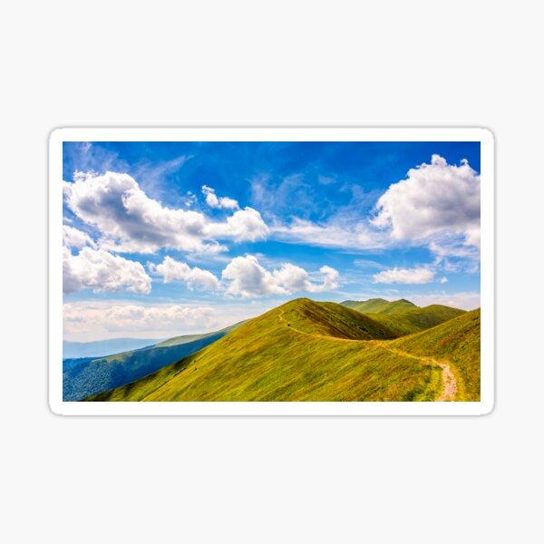 path through the mountain ridge Sticker