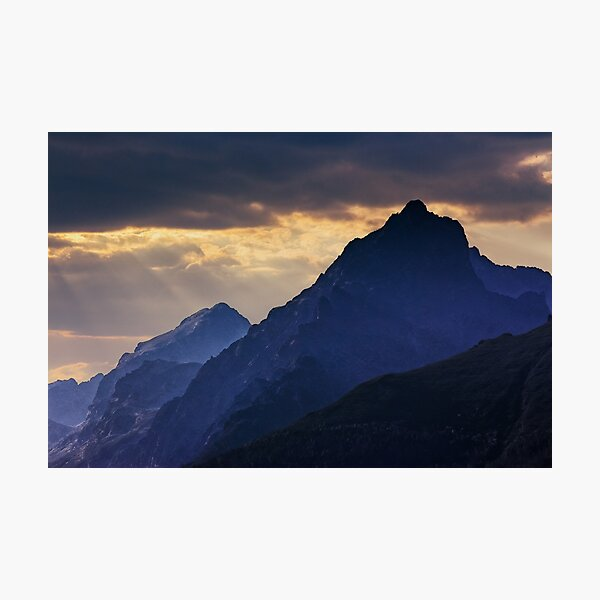 rocky tops at sunset Photographic Print