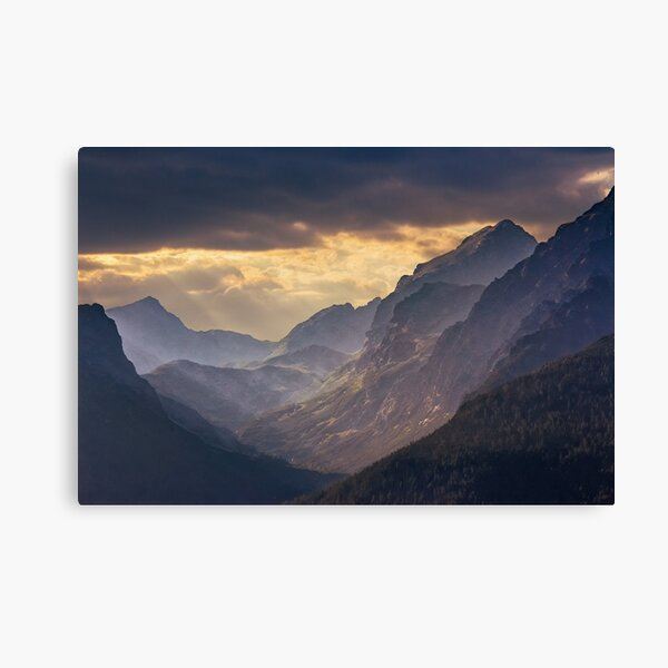 rocky tops at sunset Canvas Print