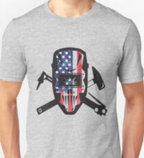 American Welder USA Flag Design T-Shirt