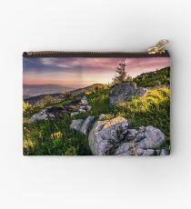 epic sunrise in high mountain ridge Studio Pouch