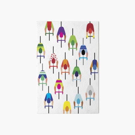 The peloton – a large group of cyclists. Art Board Print