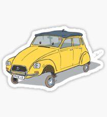 little yellow dyane Sticker