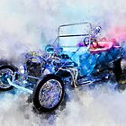 23 Model T Hot Rod Watercolour Illustration by ChasSinklier